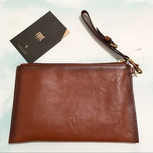 NWT! FRYE Smooth Leather Wristlet